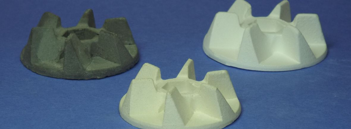 samples of mullite, alumina and silicon carbide from seneca ceramics