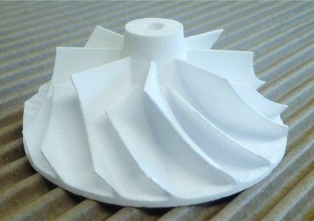turbine made of aluminum oxide. Cast net shape