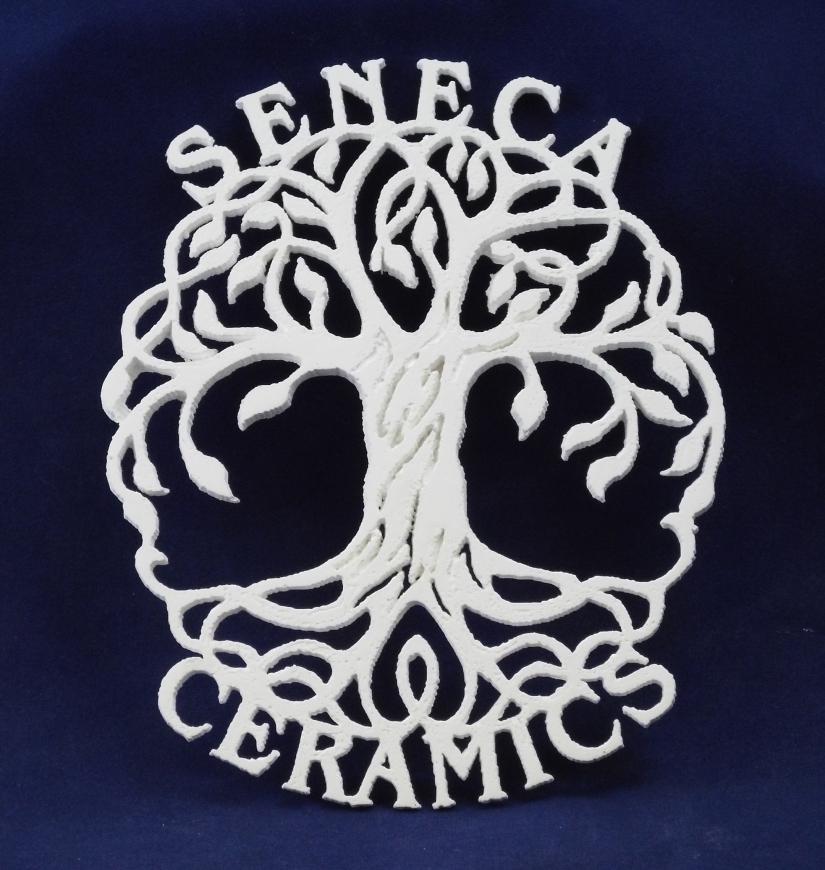 Seneca Ceramics aluminum oxide lace tree