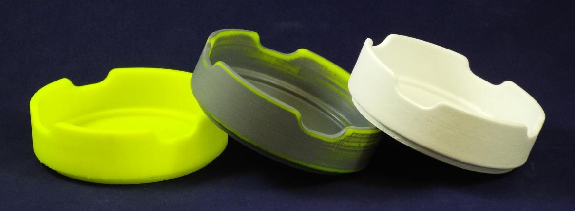 sample of 3D printed ceramic part