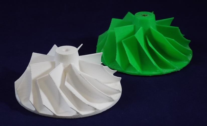 sample of ceramic turbine wheel 3D printing